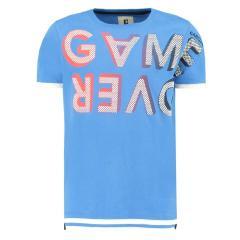"""Jungen T-Shirt Garcia, Schriftzug """"game over"""", blau - A93405"""
