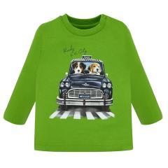 """Baby Kinder Jungen T-Shirt Langarmshirt, grün """"Hundetaxi"""" - 2.020"""