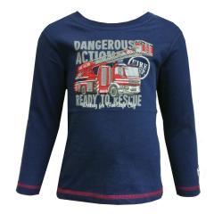 Jungen Langarmshirt Feuerwehr, blau - 75111148
