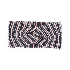 """Mädchen Baby Stirnband Strickstirnband gestreift """"Knoten"""", rosa marine – 4852000"""