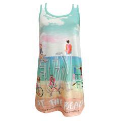 Mädchen Kleid Sommerkleid Strand Fun, mint - 6973