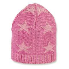 Mädchen Sommermütze Strickmütze, rosa Sterne - 1701910