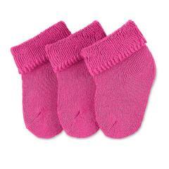 Baby Mädchen Söckchen Erstlingssöckchen 3er-Pack, pink einfarbig - 8201400