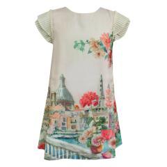 Mädchen kurzarm Kleid Frühlingskleid Tunika, lachs - 3949