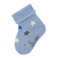 """Baby Jungen Babysöckchen Erstlingssöckchen Plüsch Socken """"Sterne"""", hellblau - 8301900"""