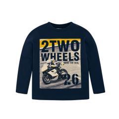 Jungen Shirt mit langen Ärmeln und Motorradmotiv, dunkelblau - 4.028db