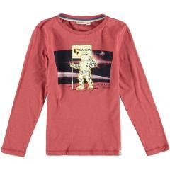 Jungen T-shirt Langarmshirt Astronaut, braun - T05601