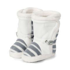 Baby Schuhe Stiefel Jungen gefüttert mit Gummizug und Klettverschluss gefüttert mit Streifen, rauchgrau - 5101822