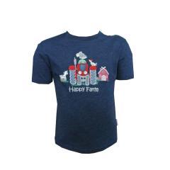 Jungen T-Shirt mit Traktor, blau - 73212127b