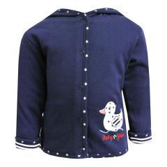 Baby Mädchen Sweatjacke Ente, blau - 73818247