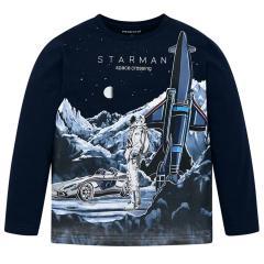 """Jungen Kids T-Shirt Langarmshirt, dunkelblau """"Starman"""" - 4028"""