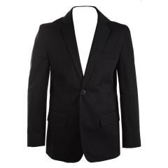 Blazer Jungen Jacke festlicher Jungenblazer regular fit (ohne Hemd u. Krawatte), schwarz - 3536800