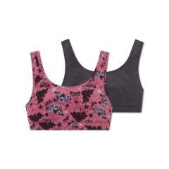 Mädchen Bustier im 2er Set, grau-pink - 163233