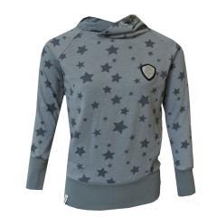 Mädchen Sweater Langarmshirt Sterne, grau - 1172-5910