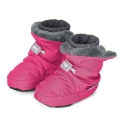 Baby Mädchen Winterschuhe gefüttert Plüschfutter wasserabweisend mit Gummizug und rutschfester Sohle einfarbig, pink - 5101521