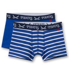 Jungen Shorts Unterhosen Doppelpack, blau weiß Piraten- 334337