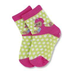 Baby Mädchen ABS Socken, grün mit Punkten - 8031675, Größe 19/20 19/20 | grün-pink |