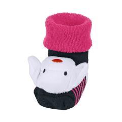 """Baby Mädchen Rassel-Söckchen Plüsch-Socken, marineblau pink """"Schaf"""" - 8441904"""