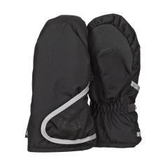 """Jungen Fäustlinge Handschuhe wasserdicht mit reflektierendem Klettverschluss  und verstärkten Handflächen einfarbig """"Schneeflocke"""", schwarz - 4321802"""