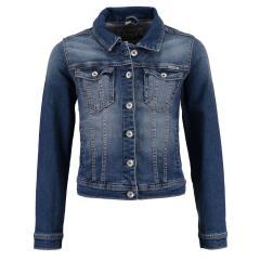 Garcia Jeansjacke langärmlig für Mädchen mit Knopfverschluss und Seitentaschen, jeansblau - 100 col.2097_Chiara
