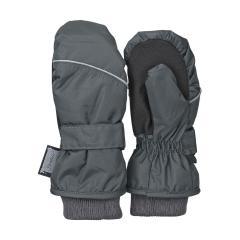 Jungen Fäustlinge Fausthandschuh Thermo-Handschuh mit reflektierendem Strich und Klettverschluss einfarbig, grau - 4321800