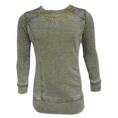 Sweater Pullover Sweatshirt Mädchen, grau