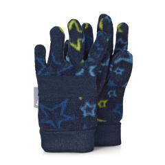 """Jungen Handschuhe Fingerhandschuhe Fleece """"Sterne"""", marineblau - 4321920"""