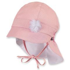 Mädchen Schirmmütze zum Binden, Sommermütze mit Nackenschutz, UV-Schutz 30, rosa - 1411925