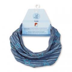 Mädchen Loop Schal Stern, blau - 4221721b