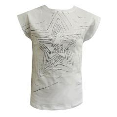 """Mädchen T-Shirt Kurzarmshirt """"Rock and Rebel"""", weiß - 7146011"""