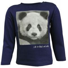 Baby Jungen Langarmshirt, Panda, blau, 2044
