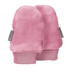Baby Mädchen Faust-Handschuhe ohne Finger Plüsch, perlrosa - 4301401