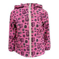 Baby Mädchen Softshelljacke Regenjacke mit Kapuze Eulen-Motiv wasserabweisend, pink - 8470018