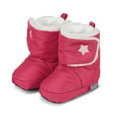 Baby Schuhe Mädchen gefüttert mit rutschfester Sohle, wasserabweisend, Klettverschluss mit glitzerndem Stern, rot - 5101802