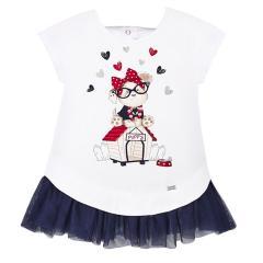 Mädchen Baby Sommer Klei mit Tüll, dunkelblau - 1.925