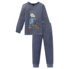 Jungen Schlafanzug Langarm mit Hamstermotiv, grau - 163415
