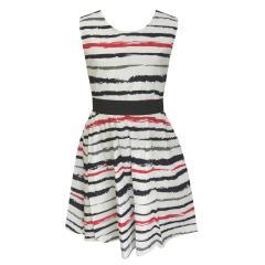 Mädchen Sommerkleid Abendkleid gestreift, blau - 971404
