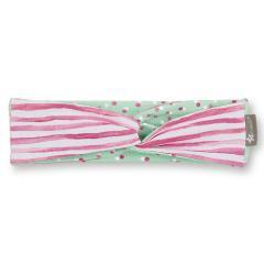 Mädchen Stirnband zum Wenden, Punkte- / Streifenmotiv, rosa/mint - 1801907-orchi