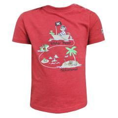 Baby Jungen T-Shirt Kurzarm-Shirt wilder Pirat, rot - 73212118r