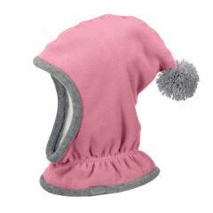 Mädchen Mütze Wintermütze Schalmütze Fleece, rosa - 4521645