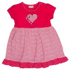 Salt&Pepper Mädchen Kleid gestreift kurzarm mit Herz-Motiv, rot – 93213233