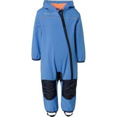 Outburst Jungen Softshell Overall 10.000mm Wassersäule winddicht atmungsaktiv, blau-orange - 3713008