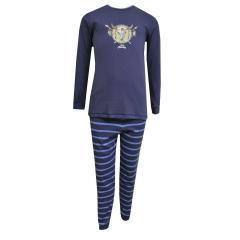 Schiesser Jungen Zweiteiliger Capt'n Sharky Kn Schlafanzug Lang, blau - 158860