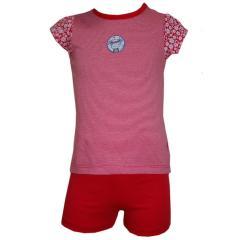 Baby Mädchen Schlafanzug gestreift, rot