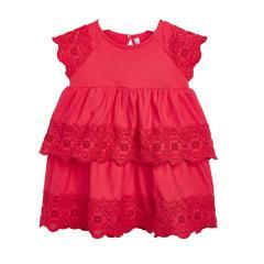 Mayoral Mädchen Sommer Kleid kurzarm, wassermelone - 3.947rot - Größe 134 134 | rot |