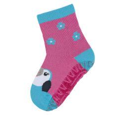 """Mädchen Anti-Rutsch-Socken Glitzer Fliesen Flitzer Sun """"Kakadu"""", pink - 8022012"""