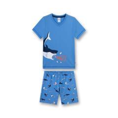 Jungen Schlafanzug kurz, blau Hai - 232300