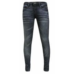 Mädchen Hose Jeans Washed Look, blau