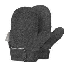 Jungen Fäustlinge Handschuhe Fleece mit Klettverschluss, anthrazit mel. - 4301420