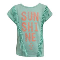 Mädchen T-Shirt Kurzarmshirt Sunshine, grün - RJG-71-273